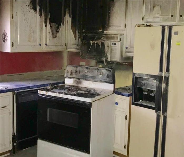 Fire Damage Kitchen Fire in Local Home